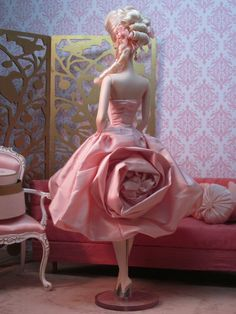 Silkstone BArbie Doll in Dior's Pink Rose by Bellissimacouture on Etsy