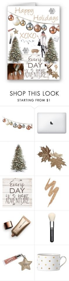 """""""Holiday Greeting Card"""" by karinravasio ❤ liked on Polyvore featuring beauty, Frontgate, Urban Decay, Nude by Nature, MAC Cosmetics, Beauty Rush, Kate Spade, GE and Iluminage"""