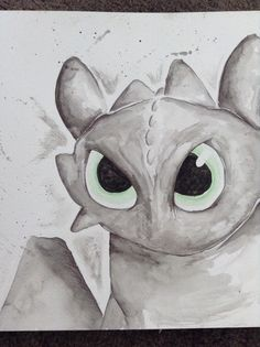 Toothless sketch from HTTYD