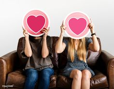Women holding up valentine icons | premium image by rawpixel.com Female Images, Model Release, Royalty Free Images, Icons, American, Women, Symbols, Ikon, Woman