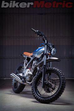 honda nx650 scrambler - front   kiddo motors