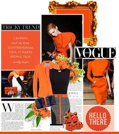 """Tricky Trend: Black and Orange"" by ohmylady ❤ liked on Polyvore"