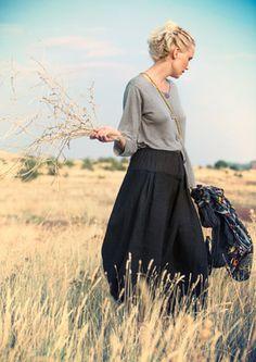 Linen skirt – Skirts & dresses – GUDRUN SJÖDÉN