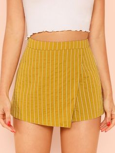 To find out about the Overlap Front Shorts at SHEIN, part of our latest Shorts ready to shop online today! Cute Skirts, Short Skirts, Short Dresses, Mini Skirts, Trendy Outfits, Cute Outfits, Fashion Outfits, Sweater Dress Outfit, Outfit Goals