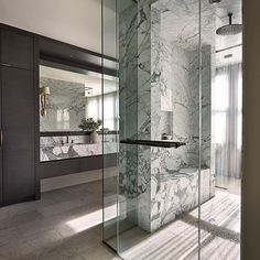 "288 Likes, 14 Comments - Christin Balzer | Interiors (@haven.studios) on Instagram: ""I am obsessed with this shower designed by @namdangmitchell - When you're more of a shower person…"""