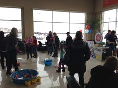 The kids enjoyed the games and prizes at the United Way Wheels and More Event at Taylor Chrysler Dodge on Saturday March 8th.