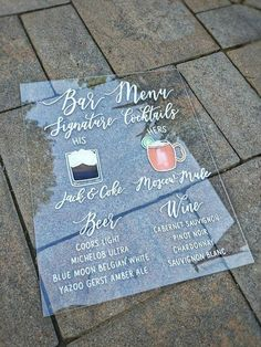 Your place to buy and sell all things handmade Our beautiful shatter-proof and glare proof acrylic wedding signs are each painted by hand. Cricut Wedding, Diy Wedding, Fall Wedding, Dream Wedding, Wedding Stuff, Wedding Photos, Wedding Goals, Wedding Planning, Party Planning
