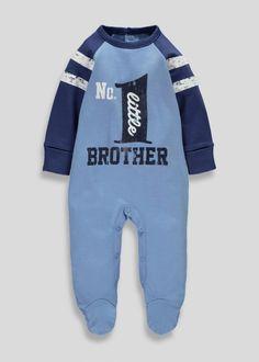 Boys Little Brother Sleepsuit (Tiny Baby-18mths) - Matalan
