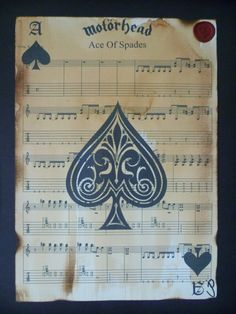 Motorhead Ace of spades sheet music artwork by Inmyheartdesigns