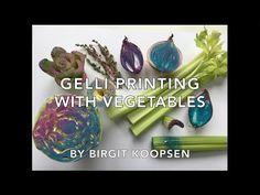 Gelli® Printing with Vegetables   Gelli Arts® - YouTube