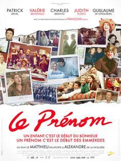 Le Prénom est un film de Alexandre De La Patellière avec Patrick Bruel, Valérie Benguigui. Synopsis : Vincent, la quarantaine triomphante, va être père pour la première fois. Invité à dîner chez Élisabeth et Pierre, sa sœur et son beau-frère, il y retr