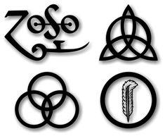 Led Zeppelin Symbols Wallpaper | Tags: Hard Rock , led zeppelin , Wallpapers