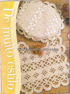 Artes by Cachopa - Croche & Trico: Jogo de banheiro lots of bath set with patterns!