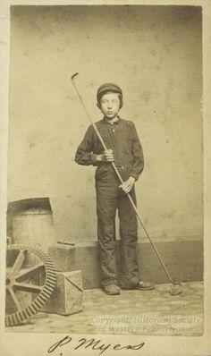 P. Myers, laborer at Sligo Iron Works, Pittsburg, Pennsylvania  circa 1860s  Historical Society of Western Pennsylvania
