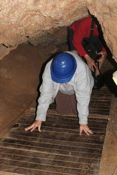Crawling through Sterkfontein caves