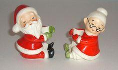 Lefton Mr & Mrs Santa Claus Candle Huggers  by SharonsAttic, $12.00