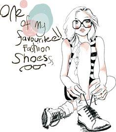 Fashion girls hand drawn illustration vector 13