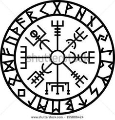 Vegvisir Futhark Runes Navigator Vikings Slim Fit TShirt is part of Traditional Thigh tattoos Sugar Skull - Slim Fit TShirt Viking Tattoo Meaning, Viking Compass Tattoo, Viking Tattoo Symbol, Runic Compass, Norse Tattoo, Viking Tattoos, Warrior Tattoos, Inca Tattoo, Ancient Tattoo
