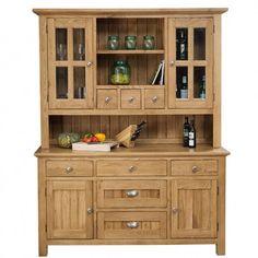 Orchard Oak Buffet & Hutch 1700x570x2130mm - Pantry & Storage - Kitchens