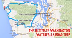 The Ultimate Washington Waterfalls Road Trip! This easy trip has some breathtaking waterfalls to see! Weekend Trips, Vacation Trips, Day Trips, Vacations, Vacation Ideas, Places To Travel, Places To Go, Travel Destinations, Wa State