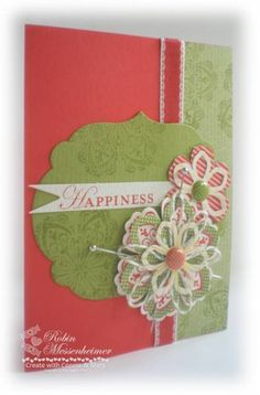 Blossom Builders with Hat Pins by RobinStamps - Cards and Paper Crafts at Splitcoaststampers