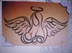guardian angel design tribal tattoo design style by on deviantart. Black Bedroom Furniture Sets. Home Design Ideas