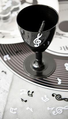 Décoration de table thème musique