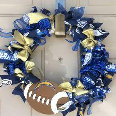 Chargers wreath... Ready for football season!!