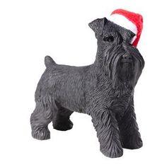 Schnauzer Standing Christmas Ornament - Black