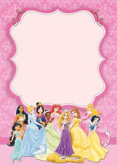Disney Princesses Birthday Invitation Template