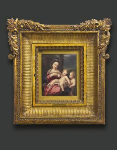An enamel plaque of the Madonna del Latte by Henry Bone, R.A., after Correggio signed and dated HBone 1811