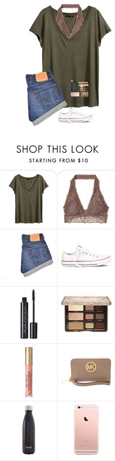 """All Weekend Long in 4 days"" by lovemyariana ❤ liked on Polyvore featuring H&M, Converse, Urban Decay, Too Faced Cosmetics, MICHAEL Michael Kors and S'well"