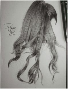 My pencil drawings - #hairstyles #ideas #drawing hairstyles ideas drawing Cool Pencil Drawings, Pencil Drawing Tutorials, Colorful Drawings, Art Drawings Sketches, Tattoo Sketches, Cute Drawings, Realistic Hair Drawing, Girl Hair Drawing, Hair Sketch