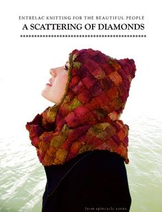 Knitting PDF hooded scarf pattern  A Scattering by SpincycleYarns,