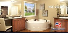 Browse through these beautiful pictures of mobile, modular and manufactured homes from one of America's top home builders at Clayton Homes. Kitchen Pictures, Home Pictures, Mobile Home Dealers, Mobile Homes, Mobile Home Doublewide, Affordable House Plans, Clayton Homes, Cozy House, Corner Bathtub