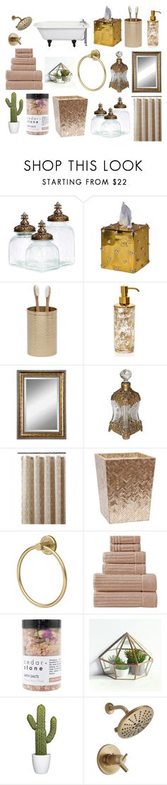 """""""Dream Bathroom"""" by unicorn1019 ❤ liked on Polyvore featuring Mike + Ally, Pigeon & Poodle, Labrazel, Uttermost, Home Decorators Collection, Makroteks, Cedar + Stone and bathroom"""