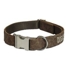 Embroidered Leather Dog Collar with Side Release Buckle - $35 at dogIDs.com
