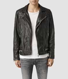 Also inspiration for AW Leather from All Saints Men's Conroy Leather Biker Jacket (Ink) -