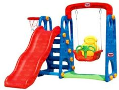 Captivating Indoor Outdoor Swing And Slide Playground Multi Color Playset Gym Fun  Toddler | Cool Kids Toys And Gifts | Pinterest | Playground