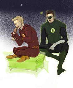 DCU - Hal Jordan x Barry Allen - HalBarry