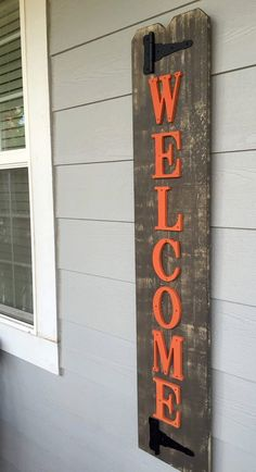Front Porch Fall Wood Sign  - Size is approximately 10.5 x 52 inches - New Cedar wood - Custom Letter color (you pick)  LETTER COLORS: Tan, White, Yellow, Gray, Teal, Black, Barn Red, green, or Dark Red (Maroon) *Other colors upon request.