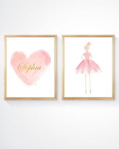 Ballet Gift Set Of 2 8x10 Ballerina Art By OutsideInArtStudio