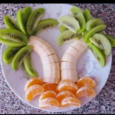 Fruit creation - fun healthy snack for kids
