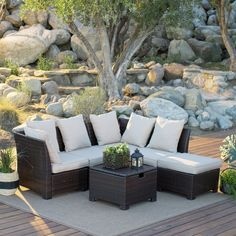 Belham Living Rendezvous All Weather Wicker Fire Pit Sectional Daybed Conversation  Set | Patio Ideas + Inspiration | Pinterest | Daybed, Outdoor Living And ...