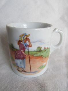 Vintage Baby Cup 1930's Nursery Rhyme Inspired by AuntSuesVintage, $14.99