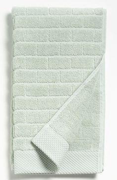 Waterworks Studio 'Subway' Combed Cotton Hand Towel - Green (Online Only)