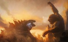 Kong is a movie starring Eiza González, Rebecca Hall, and Millie Bobby Brown. As the gigantic Kong meets the unstoppable Godzilla, the world watches to see which one of them will become King of the Monsters. King Kong Vs Godzilla, Godzilla 2, Monster Verse, Godzilla Franchise, Kong Movie, Legendary Pictures, Zhang Ziyi, Eiza Gonzalez, Skull Island