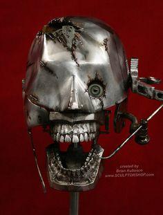 Steampunk Skull  Industrial Art Dental Medical by briankubasco, $200.00  I don't own it - but I want it. ;)