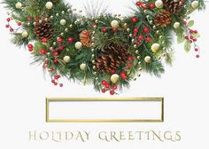 Preview image for product titled: Holiday Greens Wreath