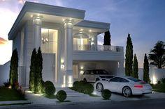 ⚜️ Ideas para tu casa... Plano de casa neoclásico